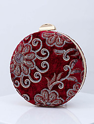 cheap -Women's Bags Polyester Alloy Evening Bag Sequin Embroidery Embroidery Vintage Party Wedding Event / Party Evening Bag Wedding Bags Handbags Blue Almond Dark Red Green