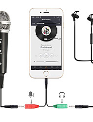 cheap -Recording Condenser Microphone Mobile Phone Microphone 3.5mm Jack Microfone for Computer PC Karaoke Mic for iphone Android