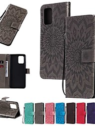 cheap -Case For Samsung Galaxy A91 / M80S / Galaxy A81 / M60S / S20 Plus Wallet/Card Holder/with Stand Full Body Cases Solid Colored / Flower PU Leather For Galaxy A01/A11/A21/A41/A51/A71/A70E/M31/S20 Ultra