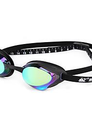 Недорогие -плавательные очки плавательные очки Противо-туманное покрытие Удобный Безопасность Для Взрослые Поликарбонат белый зеленый синий