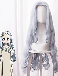 cheap -My Hero Academia Boko No Hero Cosplay Wigs Women's Asymmetrical 40 inch Heat Resistant Fiber Curly Gray Adults' Anime Wig