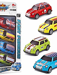 cheap -Toy Car Vehicle Playset Pull Back Car / Inertia Car Mini Truck Cartoon Toy Colorful Metal Alloy Mini Car Vehicles Toys for Party Favor or Kids Birthday Gift Random Colors 4 pcs