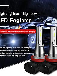 Недорогие -2шт h8 / h11 / 9005/9006 супер яркие автомобильные лампочки 20 Вт интегрированные светодиодные 2000 лм светодиодные противотуманные фары безвентиляторные фары