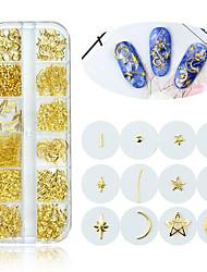 Недорогие -1 коробка золото ногтей искусство сплава шпильки 3d украшения микс морская звезда шарм металлический каркас заклепки аксессуары для ногтей блесток