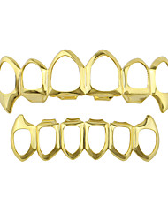 cheap -Teeth Set / Teeth Grills Statement Stylish Luxury Unisex Body Jewelry For Halloween Street Hollow Out Copper Rose Gold Gold Silver