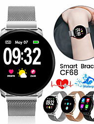 cheap -JSBP CF68  Women Smart Bracelet Smartwatch BT Fitness Equipment Monitor Waterproof with TWS Bluetooth Wireless Headphones Music Headphones for Android Samsung/Huawei/Xiaomi iOS Mobile Phone