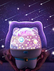cheap -Baby & Kids' Night Lights Music Cartoon Starry Night Light LED Lighting Light Up Toy Constellation Lamp Star Projector Glow USB Kid's Adults for Birthday Gifts and Party Favors  1 pcs
