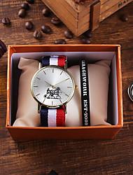 Недорогие -Муж. Спортивные часы Кварцевый Животная расцветка Нейлон Секундомер Очаровательный Новый дизайн Аналоговый Классика Мода - Красный