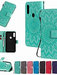 cheap -Case For Motorola MOTO G8 / Moto G8 Power / Moto E7 Wallet / Card Holder / with Stand Full Body Cases Sun Flower Embossing PU Leather / TPU for MOTO E6 Play / MOTO E6 / MOTO E6 Plus