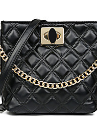 cheap -Women's Chain Polyester / PU Top Handle Bag Leather Bags Solid Color White / Black / Red / Fall & Winter