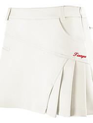 cheap -Women's Tennis Skirt Short Skirt Lightweight Breathable Quick Dry Athleisure Outdoor Autumn / Fall Spring Summer White Pink Orange Dark Blue / Micro-elastic
