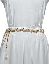 cheap -Beads Birthday / Party / Evening Sash With Imitation Pearl / Belt Women's Sashes