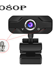cheap -HD 1080P Web Camera Built-in Dual Mics Smart Webcam USB Pro Stream Camera for Desktop Laptops PC Game Cam For OS Windows 10/8