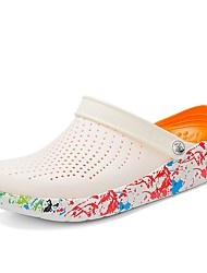 cheap -Men's Summer Outdoor Slippers & Flip-Flops PU White / Yellow / Orange