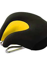 cheap -Bike Saddle / Bike Seat Extra Wide / Extra Large Comfort Cushion PU Leather Silica Gel Cycling Road Bike Mountain Bike MTB Black Orange