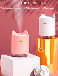 cheap -Mini USB Air Humidifier Household Office Bedroom Desktop Humidifier with Colorful LED Lights 320ml Water Tank