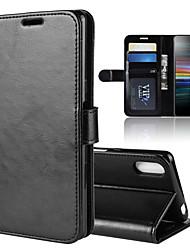 Недорогие -для xperia l3 r64 текстура одноразовый горизонтальный флип кожаный чехол с держателем&усилитель; слоты для карт&усилитель; бумажник