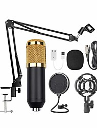 cheap -Wired Microphone Condenser Microphone Pop Filter 3.5mm Jack for Studio Recording & Broadcasting PC, Notebooks and Laptops Mobile Phone