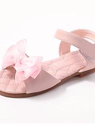 cheap -Girls' Comfort / Flower Girl Shoes Microfiber Sandals Dress Shoes Toddler(9m-4ys) / Little Kids(4-7ys) Bowknot / Sparkling Glitter Pink / Ivory Spring / Summer / Party & Evening / Rubber