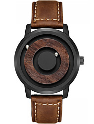 cheap -Men's Sport Watch Japanese Quartz Genuine Leather 30 m Day Date Analog Fashion Cool - Black Yellow Brown One Year Battery Life
