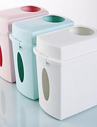 Недорогие -Многоцелевой гостиная кухня рабочий стол хранения мусора ствол ящик для хранения тканей урны пластиковые 1 шт. 8 л