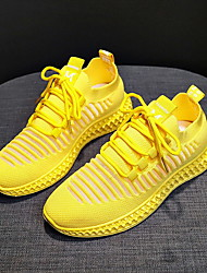 cheap -Women's Trainers Athletic Shoes Flat Heel Round Toe Daily Mesh Summer White Black Yellow