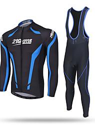 cheap -XINTOWN Men's Long Sleeve Cycling Jersey with Bib Tights Winter Coolmax® Mesh Spandex Black Purple Yellow Bike Pants / Trousers Jersey Bib Tights Breathable 3D Pad Reflective Strips Back Pocket