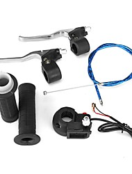 cheap -47cc 49cc Twist Throttle Hand Grip Cable Switch Brake Lever Kit Pocket Bike
