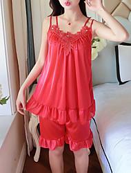 ieftine -Pentru femei Pătrat Costume Pijamale Brodată