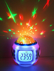 Недорогие -многофункциональный проектор звездного неба свет tiktok звездный свет с смарт-будильник туманность проектор ночник для детей спальня атмосфера лампа ааа с питанием от батареи