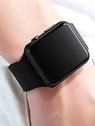 Недорогие -Мужчина женщина электронные часы Цифровой Современный Стильные силиконовый Черный ЖК экран Повседневные часы Крупный циферблат Цифровой На каждый день Мода - Черный + Gloden Лиловый Золотой