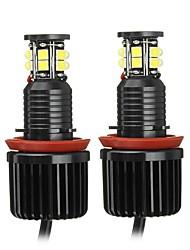 cheap -2pcs Car 12LED Angel Eye Halo Ring Headlights Bulbs H8 Front Left/Right Lamps 120W DC 12-30V For BMW E82 E90 E92 E60 E61 E63 E89 X6
