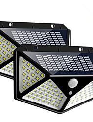 cheap -2pcs 10W 100LED Solar Wall Lamp Street Lamp Courtyard All Around Luminous Solar Lamp Human Body Sensor Lamp