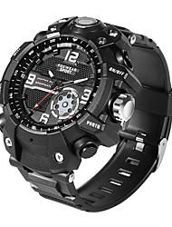 Недорогие -KUPENG Универсальные электронные часы Цифровой Спортивные Стильные силиконовый Черный Творчество Новый дизайн Крупный циферблат Аналоговый На открытом воздухе Мода - Черный / Два года