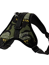 cheap -Dog Harness Adjustable Breathable Safety Solid Colored Nylon Black / Red Black / White Camouflage Color Leopard Black