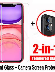Недорогие -2 в 1 закаленное стекло для iphone 7 8 x xr xs макс. 11 pro max se 2020 защитная пленка для объектива камеры для iphone xr xs 7 8 плюс комплект
