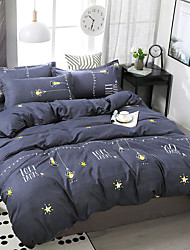 cheap -Simple wind star printing pattern bedding four-piece quilt cover bed sheet pillow cover dormitory single double