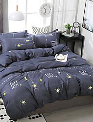 Недорогие -простой ветер звезда печать шаблон постельное белье из четырех частей пододеяльник простыня наволочка общежитие одноместный двухместный