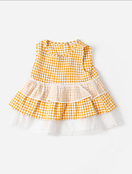 cheap -Kids Girls' Plaid Dress Yellow