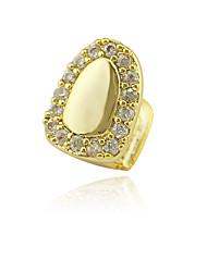 cheap -Teeth Set / Teeth Grills Statement Stylish Luxury Unisex Body Jewelry For Halloween Street Synthetic Diamond Copper Gold Silver 1 Piece