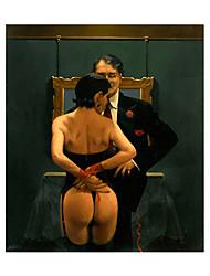 ieftine -imprimeuri panza laminate pe panou - oameni încă viață de artă modernă imprimeuri panglici stacojii minunate panglici afișe pictură artă modernă tablou pictură tablouri ilustrare acasă decorare pentru