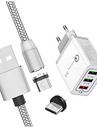 Недорогие -Зарядное устройство USB LITBest 3U 3 Настольная зарядная станция С быстрой зарядкой 3.0 / С кабелями зарядного устройства Евро стандарт / Универсальный Адаптер зарядки