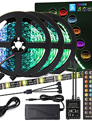 cheap -ZDM High-Quality Black PCB 15M(3*5M) Music Timing Synchronous Control Flexible Light Bar 5050 RGB  IR 40 Key Controller with12V 6A Adapter Kit