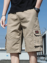 cheap -Men's Sporty Street chic Daily Weekend Slim Cotton Shorts Tactical Cargo Pants - Camouflage Solid Colored Classic Sporty Outdoor Summer Fall Black Army Green Orange US38 / UK38 / EU46 / US40 / UK40