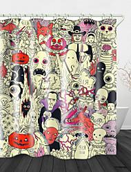 Недорогие -Демон мира цифровой печати водонепроницаемая ткань занавески для душа для ванной комнаты домашнего декора покрыты ванной шторы лайнер включает в себя с крючками