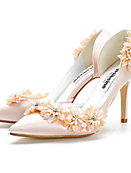 cheap -Women's Heels 2020 Spring / Fall Stiletto Heel Pointed Toe Classic Sweet Wedding Party & Evening Satin Champagne