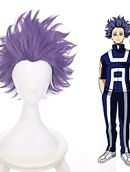cheap -Cosplay Costume Wig Cosplay Wig Hitoshi Shinso My Hero Academia / Boku No Hero Straight Layered Haircut Wig Very Long Purple Synthetic Hair 14 inch Men's Anime Cosplay Exquisite Purple