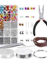 cheap -Personalized Customized DIY Jewelry Findings Kit Handmade 1pc / pack Silver