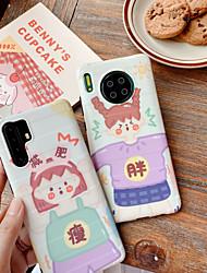 olcso -Case Kompatibilitás Huawei Huawei P20 / Huawei P20 Pro / Huawei P30 Ütésálló Fekete tok Rajzfilm TPU