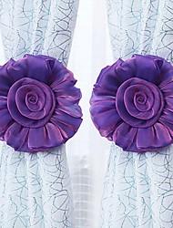 cheap -2Pcs Household Curtain Straps Sweet Flower Design Decorative Curtain Tiebacks Curtain Holder